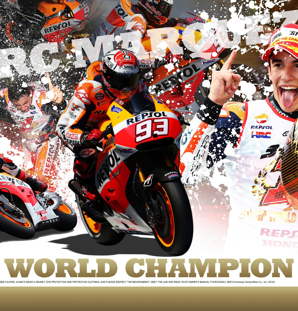 Marquez World Champion MotoGP 2013 - 2014