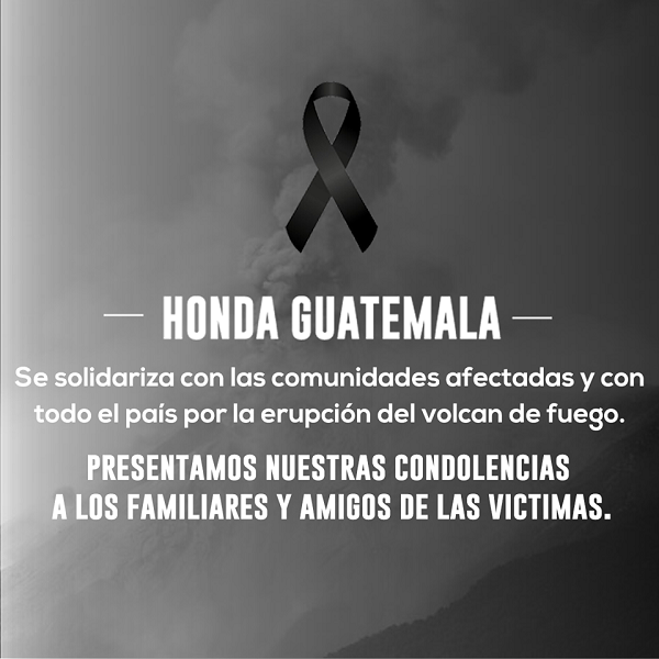 Nos solidarizamos con los afectados...